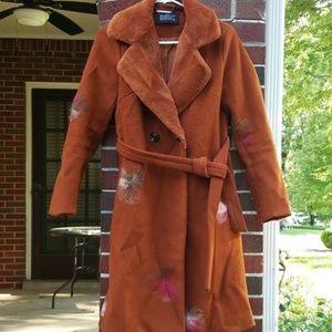 Badgley Mischka Belted Coat